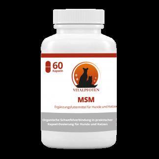 MSM Schwefel Methylsulfonylmethan Schwefel Gelenke Hund HD Hüftdysplasie Entzündung Kapseln organischer